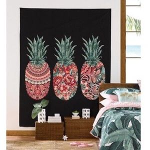 Target Big Pink Tropical Pineapple Wall Tapestry